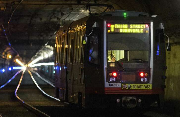 Muni trains will not run through the Twin Peaks Tunnel for two months during work to replace rails and their supporting structure inside the 100-year-old tube.