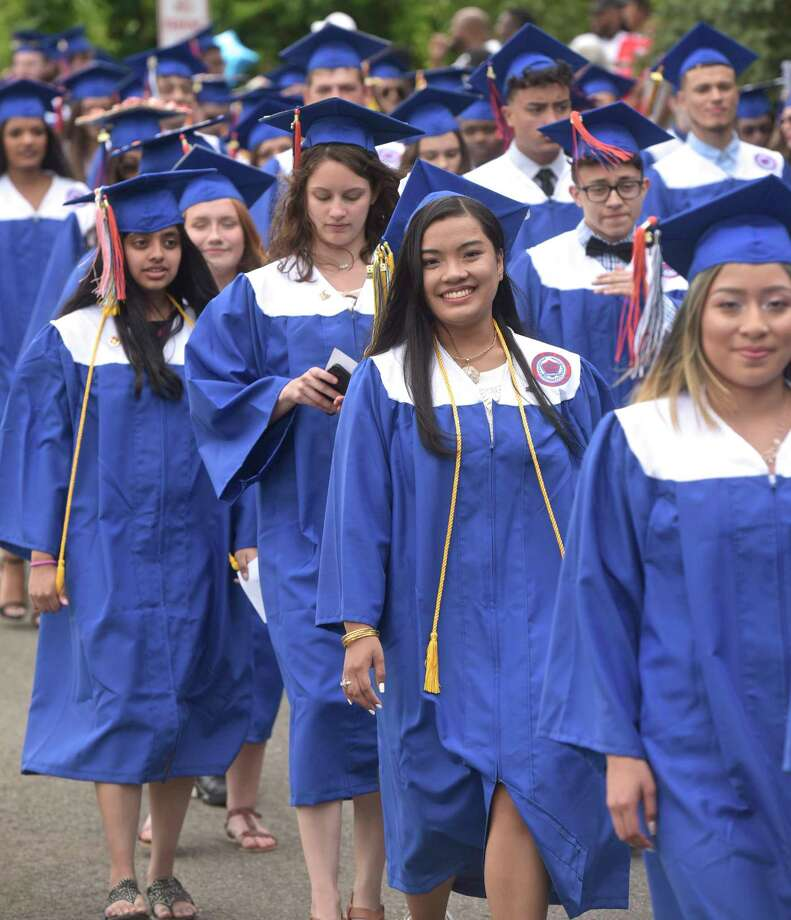 Danbury High School 2018 Graduation, Friday evening, June 22, 2018, at Danbury High School, Danbury, Conn. Photo: H John Voorhees III, Hearst Connecticut Media / The News-Times
