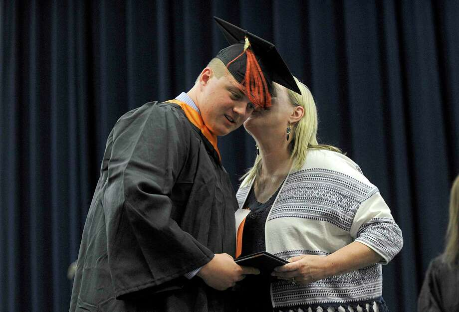 Ridgefield High School Class of 2018 graduates Friday, June 22 at Western Connecticut State University's O'Neill Center in Danbury. Photo: Carol Kaliff, Hearst Connecticut Media / The News-Times