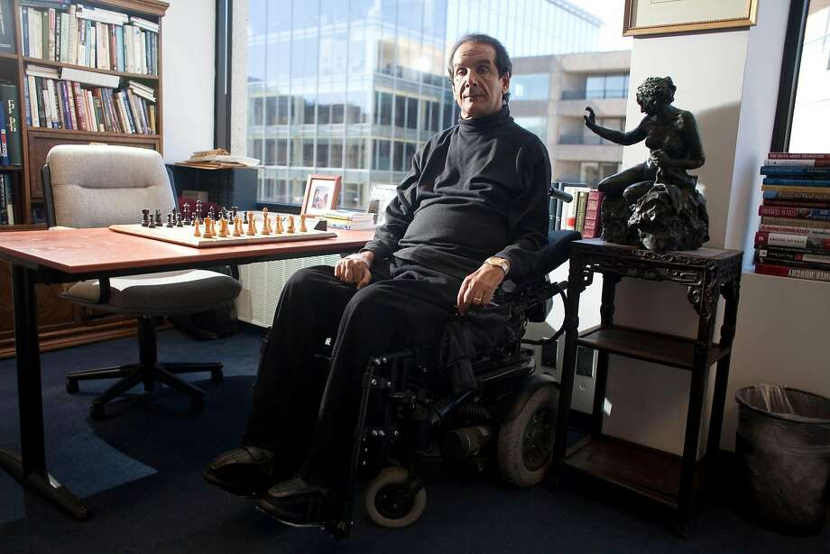 Charles Krauthammer, who didn't let partial paralysis from a diving board accident impede him, earned a medical degree and won a Pulitzer Prize for his political commentary. Photo: Michael Temchine / New York Times 2010