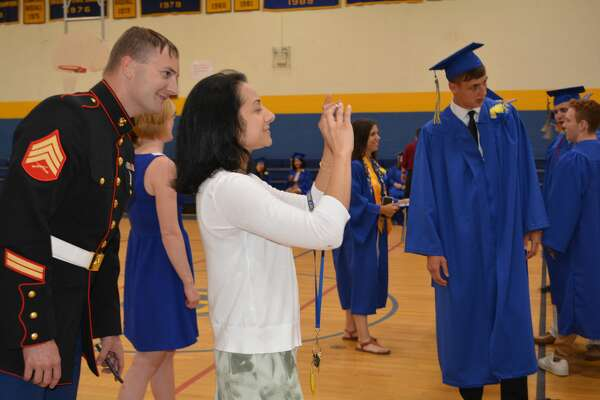 Images of the commencement ceremony at The Gilbert School for the Class of 2018 on Friday, June 22, 2018.