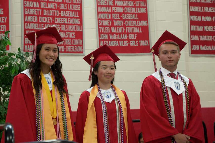 Pomperaug High School held their graduation ceremony on Friday, June 22, 2018 at the school in Southbury, Conn.