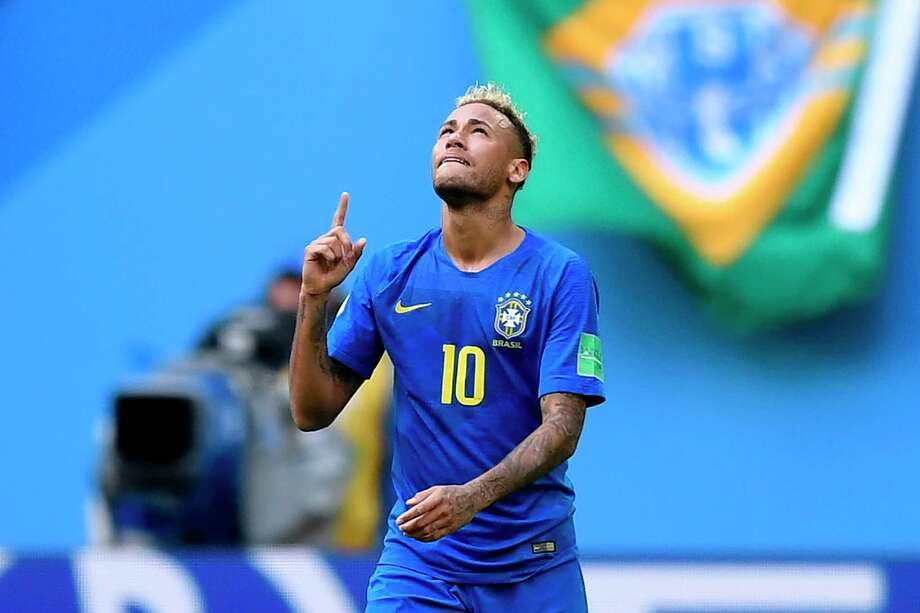 Brazil's forward Neymar celebrates a goal during the Russia 2018 World Cup Group E football match between Brazil and Costa Rica at the Saint Petersburg Stadium in Saint Petersburg on June 22, 2018. / AFP PHOTO / GABRIEL BOUYS / RESTRICTED TO EDITORIAL USE - NO MOBILE PUSH ALERTS/DOWNLOADSGABRIEL BOUYS/AFP/Getty Images Photo: GABRIEL BOUYS / AFP or licensors