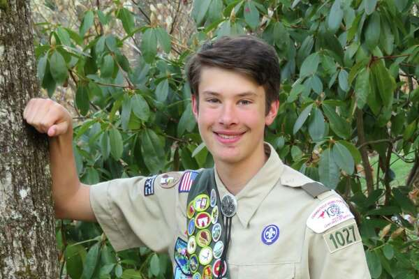 Boy Scout Troop 1027 of Winsted and parents Paul and Julie Rego, are proud to announce the achievement of the Boy Scouts of America Eagle Scout rank by their son Hunter P. Rego on March 26. Hunter completed his Eagle Scout service project by making Improvements to the Ruez Property of the Winchester Land Trust on the Old Waterbury Turnpike. Improvements included constructing a trail head sign, trail cleanup and marking property boundaries for the land trust. Rego has achieved the highest rank of the Boy Scout of America with the required 21 merit badges, along with an additional 25 to earn 5 Eagle Palms. A highlight of his scouting career was attending the 2017 National Boy Scout Jamboree in West Virginia. This summer he is going on an Order of the Arrow Wilderness Journey in the Boundary Waters of Minnesota, at the BSA Northern Tier High Adventure base. Hunter is a junior at University High School of Science and Engineering in Harford, and is taking courses at the University of Hartford.