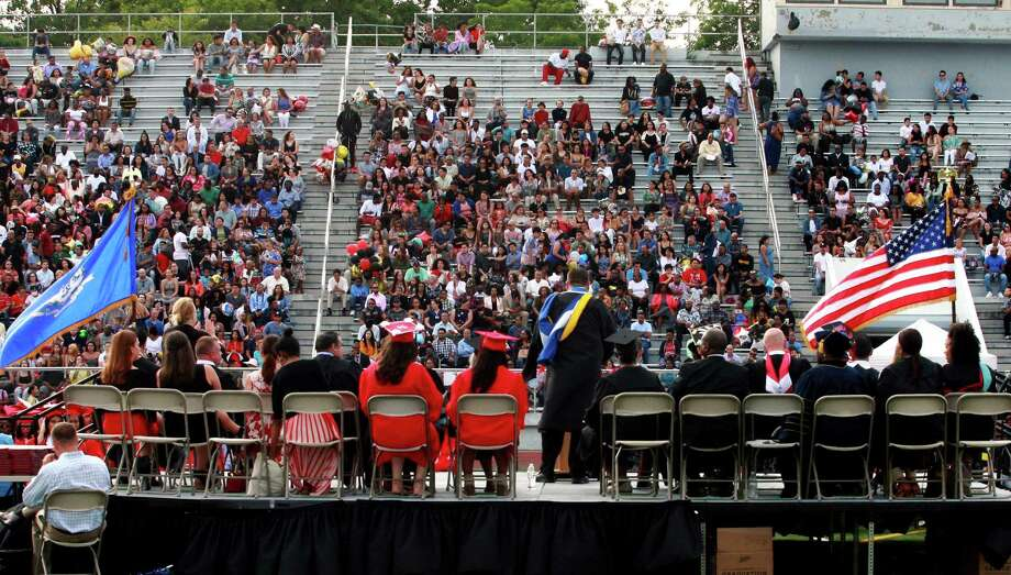 Central High School's Class of 2018 Graduation Exercises in Bridgeport, Conn., on Friday, June 22, 2018. Photo: Christian Abraham, Hearst Connecticut Media / Connecticut Post
