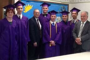 Torrington Christian Academy graduated 6 seniors on June 15, including James Lilley of Thomaston, Richard Lopez of Torrington, Brenden Roy of Torrington, Ethan Rush of Goshen, Eddie Tousey of Torrington, and Kyle Versari of Torrington. All six students are attending college in the fall.