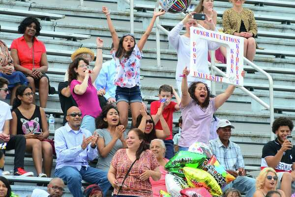 The Interdistrict Science Magnet School's 3rd Annual Commencement Ceremony at Central High School's Kennedy Stadium in Bridgeport, Conn., on Friday June 22, 2018.