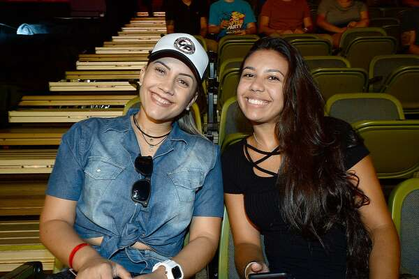 Glasiele Cutis and Carolina Mendes were at the LFA 43 mixed martial arts fights at the Beaumont Civic Center.  Friday, June 22, 2018  Kim Brent/The Enterprise