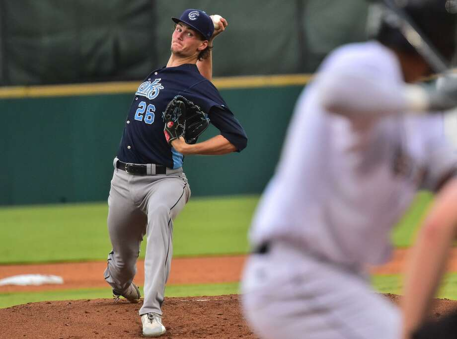 Former Alamo Heights star Forrest Whitley of the Corpus Christi Hooks boasts a 0.00 ERA and 18 strikeouts since returning from a 50-game suspension. Photo: Robin Jerstad / For The Express-News / ROBERT JERSTAD