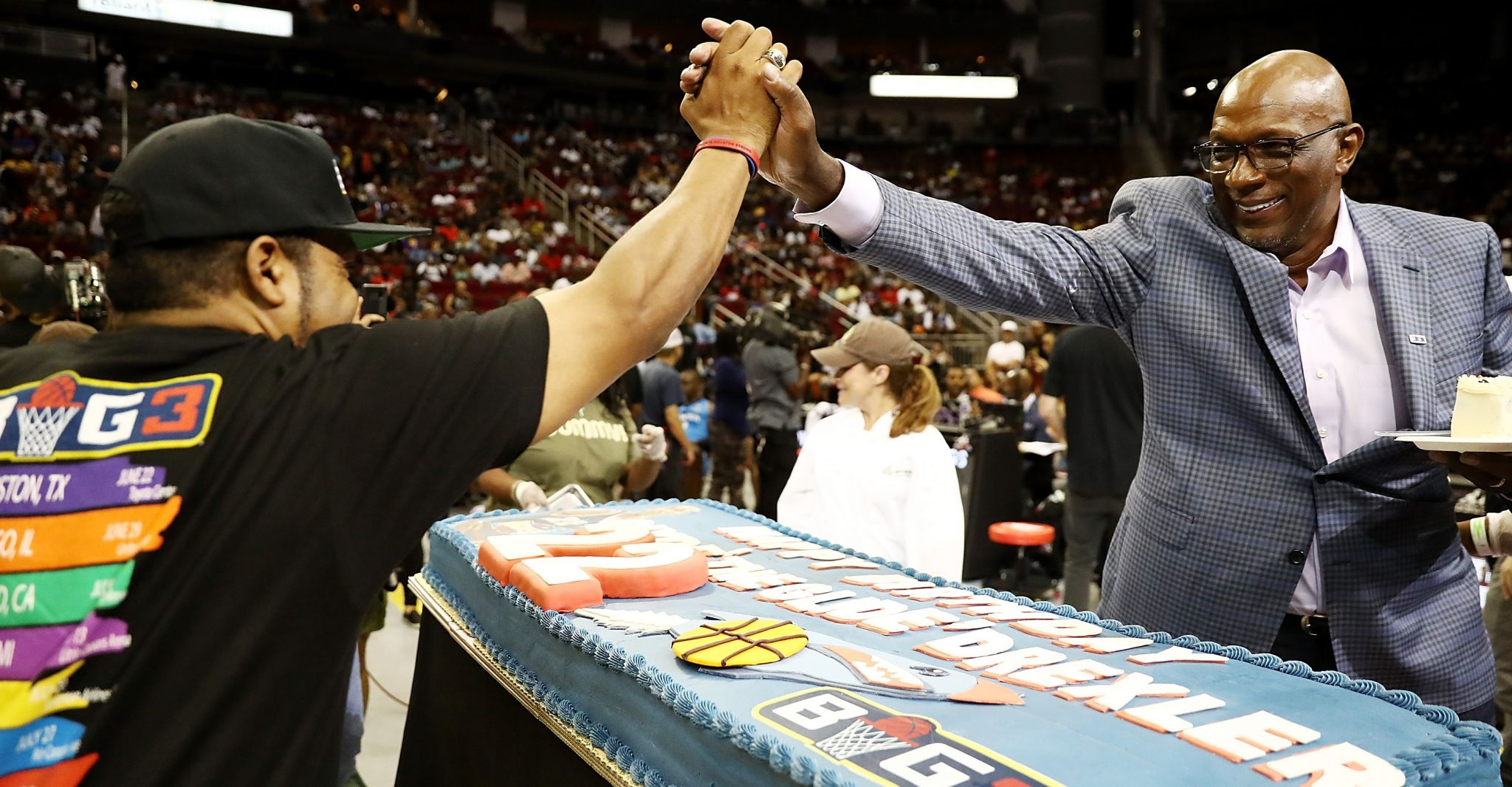 Ice Cube, Clyde Drexler Bring Big3 Vision To Toyota Center