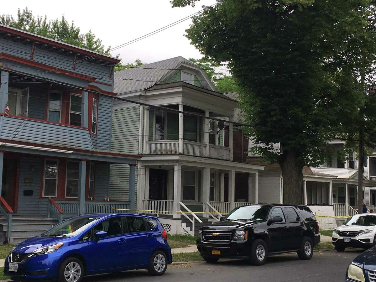 The residence at 61 Partridge St. in Albany on Saturday, June 23, 2018 where police said Schuyler Lake stabbed his mother and uncle. (Madison Iszler/Times Union)