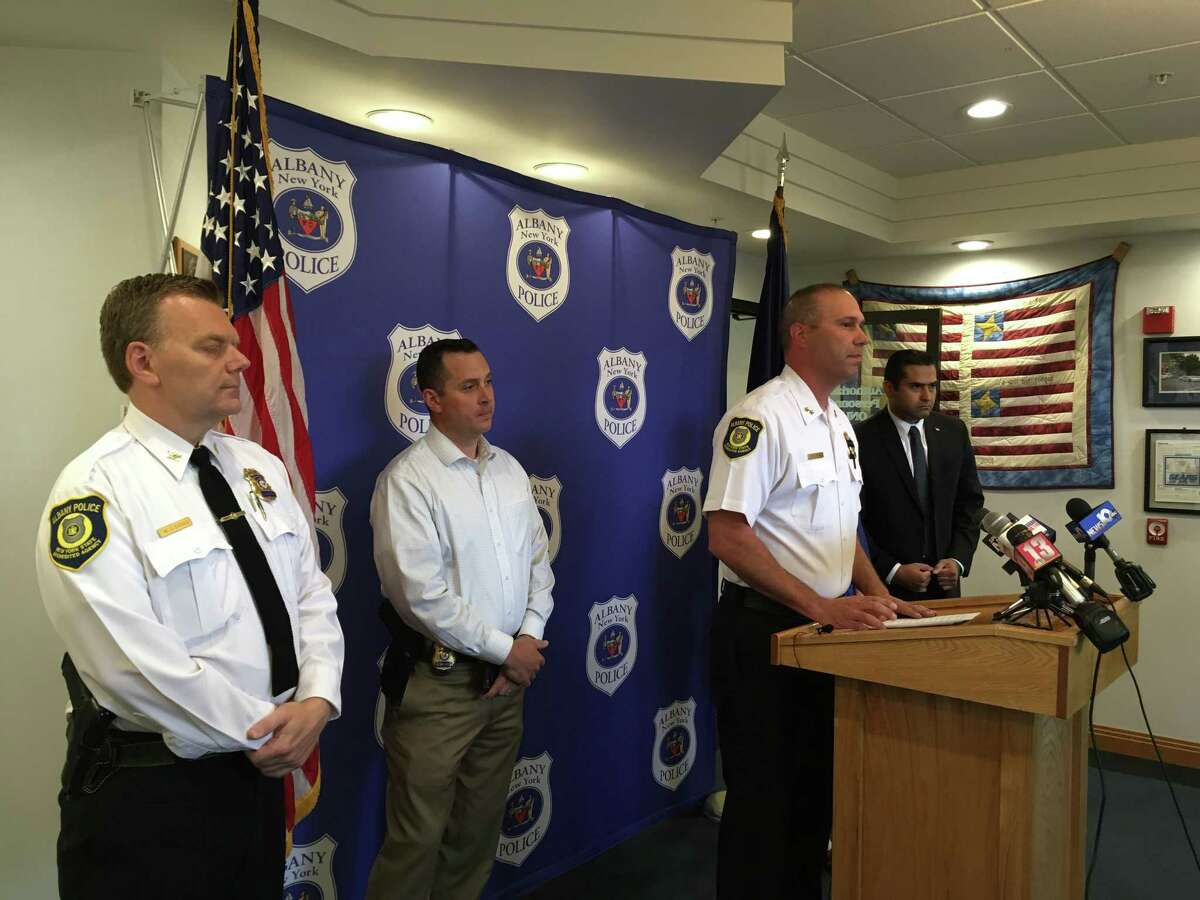 Albany Police Chief Robert Sears held a press conference Saturday, June 23, 2018 about an officer-related shooting that occurred Friday, June 22, 2018.