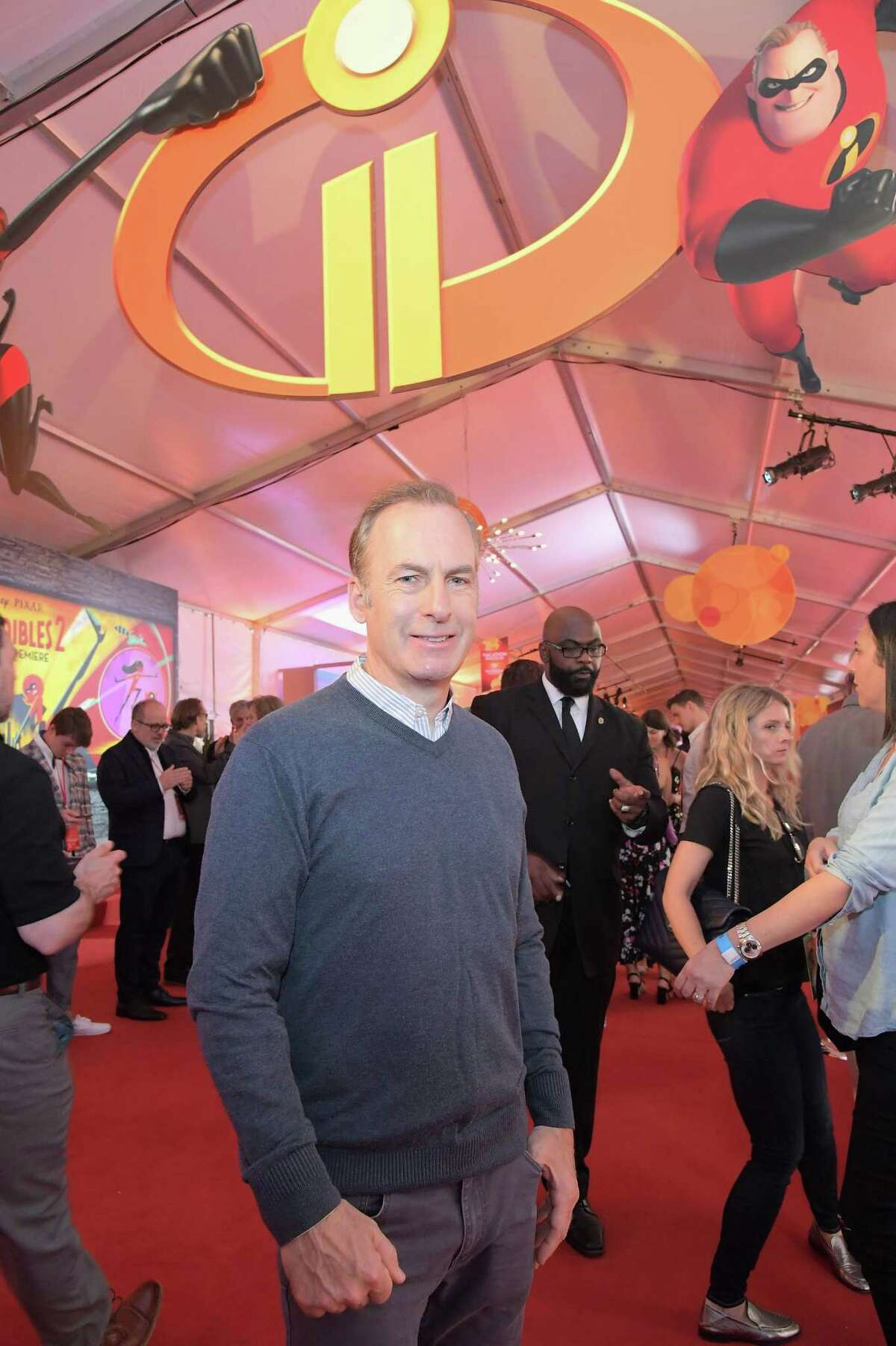 Bob Odenkirk, who plays a new character in the sequel, at tends the June 5 premiere at Los Angeles' El Capitan Theatre.