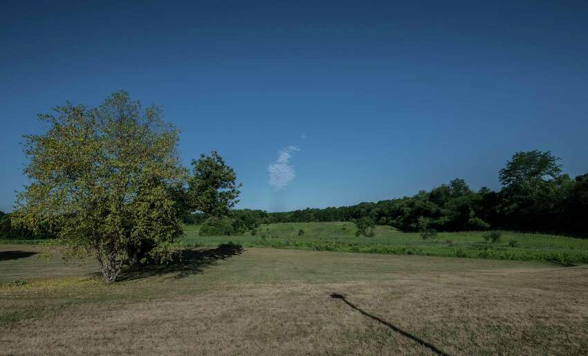 View looking from the east to west of large field that is the proposed site of an Amazon distribution center Thursday June 21, 2018 in Schodack, N.Y. (Skip Dickstein/Times Union)