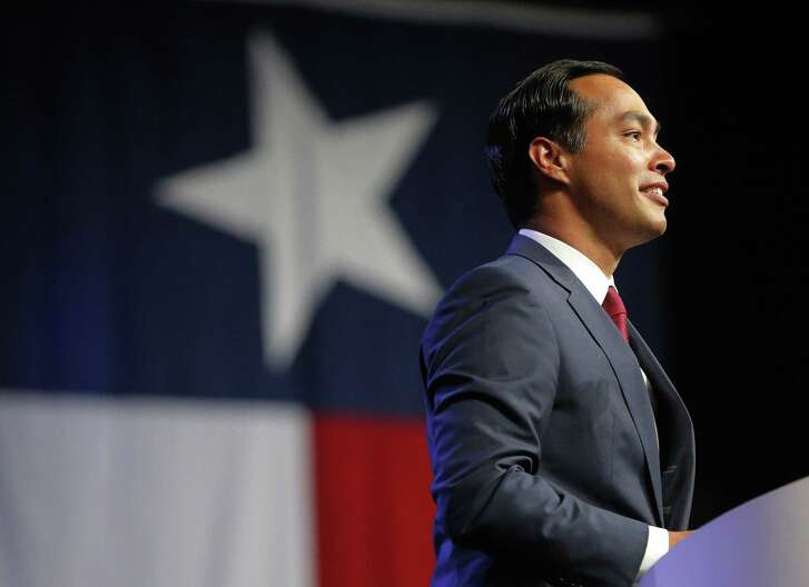 Julian Castro, former Secretary of Housing and Urban Development, speaks at the Texas Democratic Convention, in Fort Worth, Texas, Friday, June 22, 2018. (Rodger Mallison/Star-Telegram via AP)