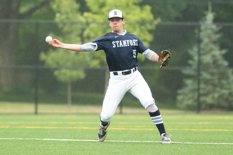 Stamford's TJ Wainwright makes the throw to first base during Stamford's victory over Norwalk in Norwalk, Conn. on Saturday, June 23, 2018. Photo: Chris Palermo / For Hearst Connecticut Media / Norwalk Hour Freelance