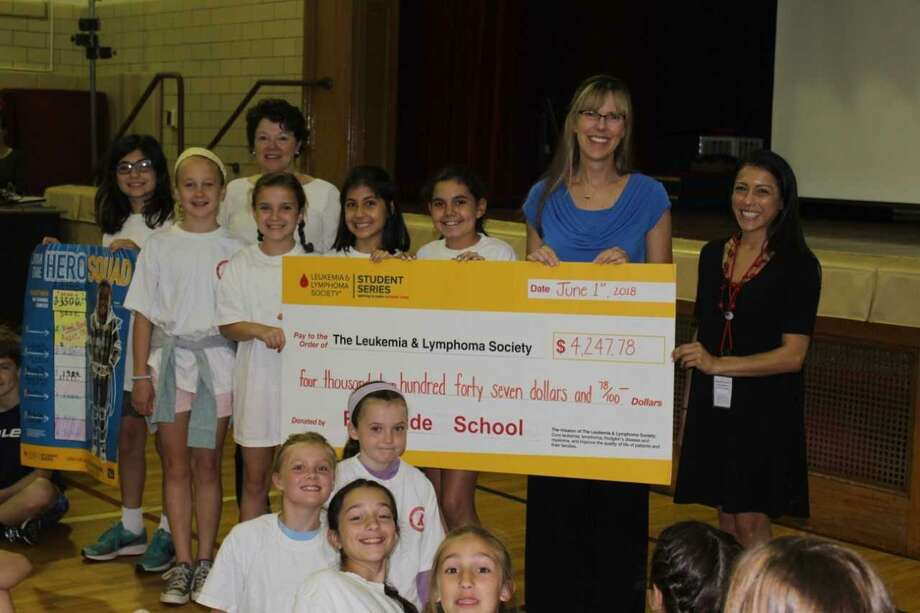 Through Pennies for Patients, students at Riverside School raised $4,247.78, or $747.78 more than the original goal, for the Leukemia & Lymphoma Society. Photo: Contributed /