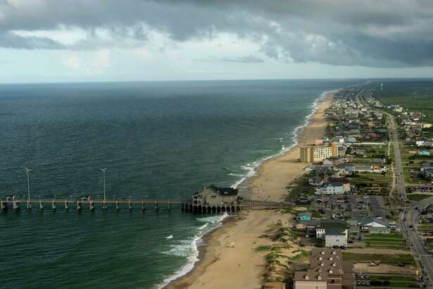 A view of Nags Head in North Carolina's Outer Banks with Jennette's Pier at left. OBX's first resort, it remains one of its most popular.