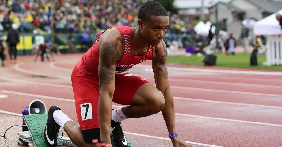 EUGENE, OR - JUNE 8: Kahmari Montgomery of the Houston Cougars prepares for the 400 meter dash during the Division I Men's Outdoor Track & Field Championship held at Hayward Field on June 8, 2018 in Eugene, Oregon. (Photo by Jamie Schwaberow/NCAA Photos via Getty Images) Photo: Jamie Schwaberow/NCAA Photos Via Getty Images