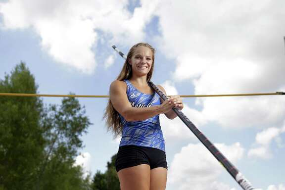 New Caney pole vaulter Nastassja Campbell returned from a torn ACL suffered at the state meet last year to win the Class 5A title in record fashion this season.
