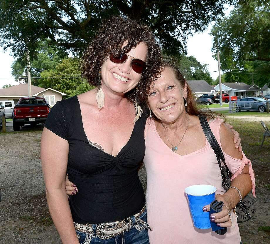 Lisa Birt and Annemarie Fish were at the Clayboy's benefit in Chris Roark - Lion's Park in Groves. The day-long concert and BBQ raised funds to aid in expenses for Clay Pelloat, who is facing mounting expenses after closing Clayboy's Smokepit last September to battle cancer.   Saturday, June 23, 2018  Kim Brent/The Enterprise Photo: Kim Brent / The Enterprise / BEN