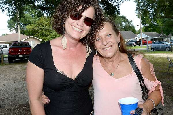 Lisa Birt and Annemarie Fish were at the Clayboy's benefit in Chris Roark - Lion's Park in Groves. The day-long concert and BBQ raised funds to aid in expenses for Clay Pelloat, who is facing mounting expenses after closing Clayboy's Smokepit last September to battle cancer.   Saturday, June 23, 2018  Kim Brent/The Enterprise
