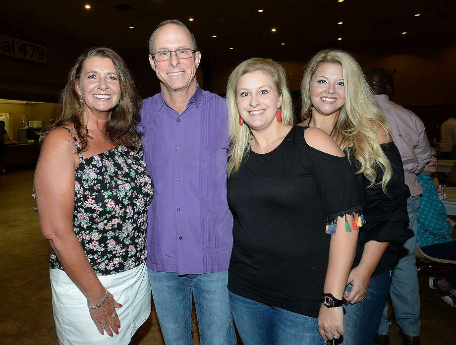 Vicki and Bobby Rector, Haley Morrow and Jenna Rector were at the benefit concert and BBQ held for Beaumont Police officer Bobby Rector and family at the IBEW Hall. Proceeds from the event will help the Rector family with medical expenses following a months-long battle with a rare head and neck cancer. Rector is an 18-year veteran officer with the traffic division.
