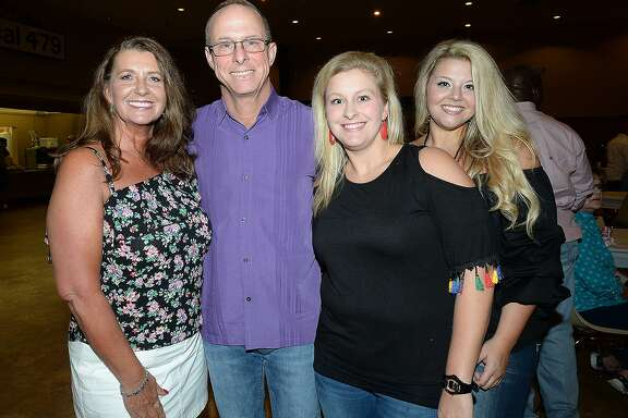 Vicki and Bobby Rector, Haley Morrow and Jenna Rector were at the benefit concert and BBQ held for Beaumont Police officer Bobby Rector and family at the IBEW Hall. Proceeds from the event will help the Rector family with medical expenses following a months-long battle with a rare head and neck cancer. Rector is an 18-year veteran officer with the traffic division.  Saturday, June 23, 2018  Kim Brent/The Enterprise