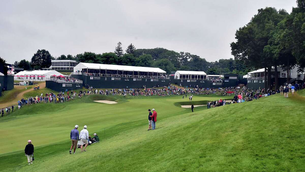 Third round action at Travelers Championship at TPC River Highlands in Cromwell, Saturday, June 23, 2018.