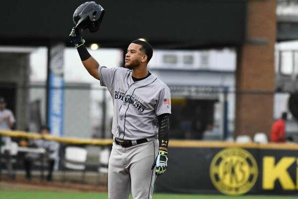 Astros prospect Randy Cesar sets the record for longest hit streak in Texas League history with the Corpus Christi Hooks.