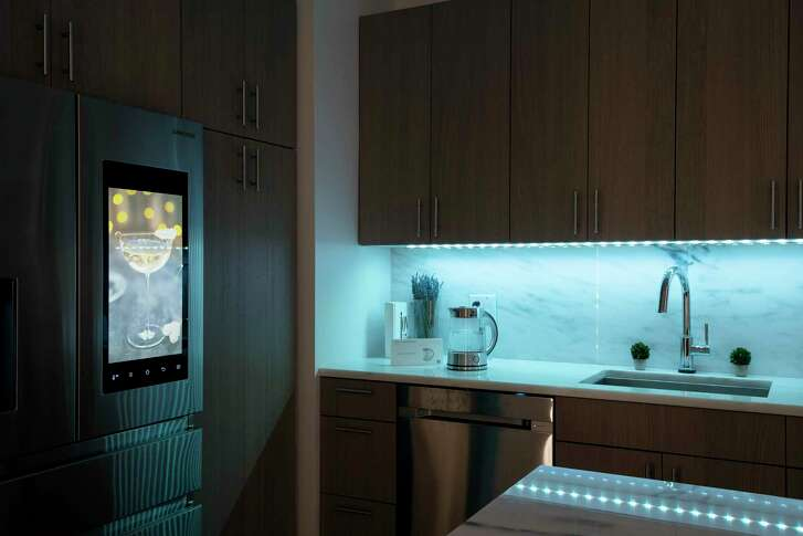 FILE -- Smart-home products, including lighting and appliances that can be controlled via app, in New York, Dec. 1, 2017. Increasingly, abuse-minded hackers have been able to hijack internet-connected devices in the home — locks, speakers, thermostats, lights, cameras — for purposes of harassment, monitoring, revenge or power-grabbing. (Karsten Moran/The New York Times)