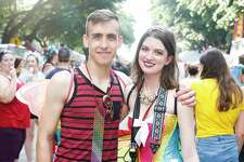 Thousands of people fill downtown for the 40th annual Pride Houston festival Saturday, June 23, 2018.