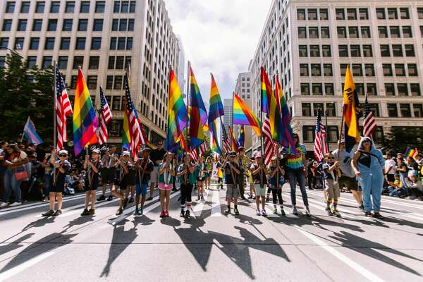 Chief Seattle Scouts for Equality kicked off the 2018 Seattle Pride Parade.