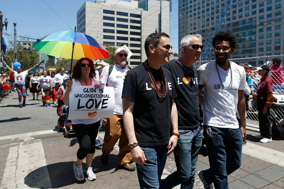 Glide Memorial Church attendants marched in the annual Pride Parade on Sunday, June 24, 2018 in San Francisco, Calif.