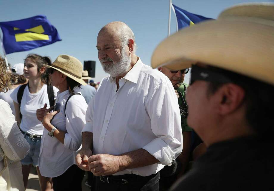 Filmmaker Rob Reiner joins protesters near the tent encampment recently built at the Tornillo-Guadalupe Port of Entry on June 24, 2018 in Tornillo, Texas. Reiner and his family joined others to protest the separation of children from their parents after they were caught entering the U.S. under the administration's zero tolerance policy. Photo: Joe Raedle /Getty Images / 2018 Getty Images