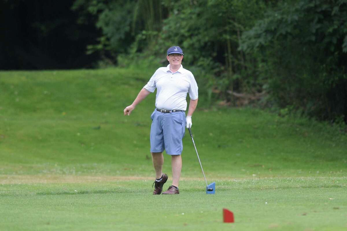Robert Tyska watches his shot sail a little wide on the 18th hole during the 2018 Stamford Amateur Championship at E. Gaynor Brennan Golf Course in Stamford, Conn. on Sunday, June 24, 2018. The city Golf Commission is one of many that has trouble filling seats.