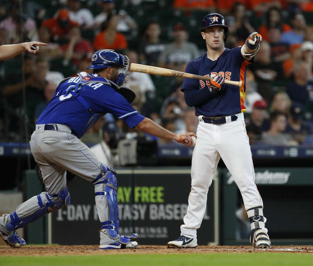 Houston Astros Alex Bregman (2) strikes out during the eighth inning of an MLB game at Minute Maid Park, June 24, 2018, in Houston. ( Karen Warren / Houston Chronicle )
