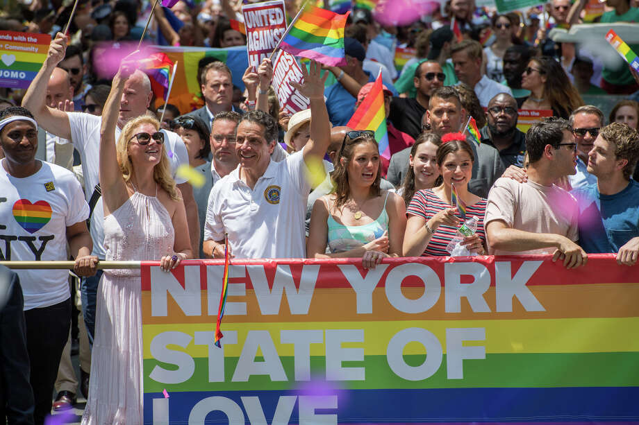 NYC Pride ParadeJune 24, 2018 - New York City, NY - Gov. Andrew Cuomo, Sandra Lee march in NYC Pride Parade. Photo: Andrew Cuomo Flickr