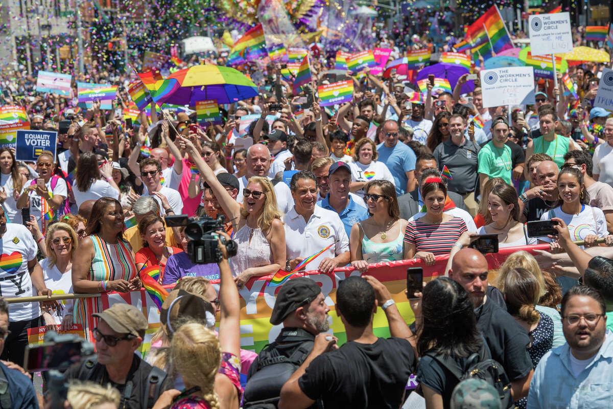 NYC Pride ParadeJune 24, 2018 - New York City, NY - Gov. Andrew Cuomo, Sandra Lee march in NYC Pride Parade.
