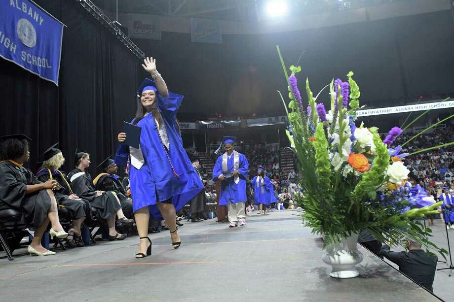 Click through the slideshow to see area school districts' graduation rates for the 2017-18 school year.