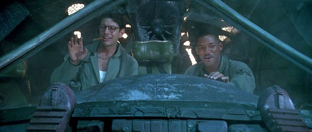 Jeff Goldblum (left) and Will Smith in the 1996 blockbuster