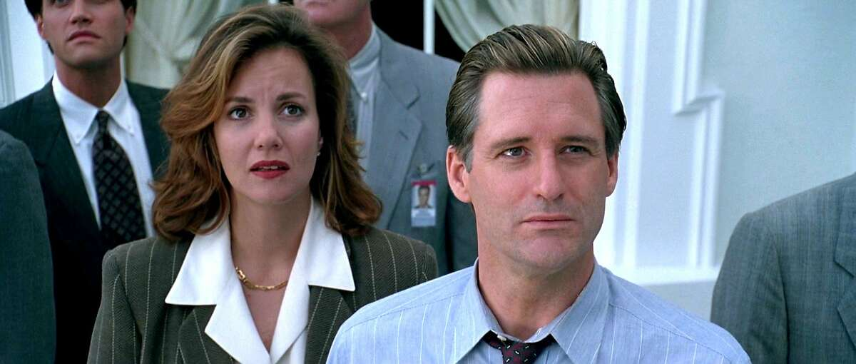 Bill Pullman (right) and Stockard Channing are the President and First Lady if the United States in the alien invasion blockbuster
