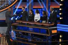 "CELEBRITY FAMILY FEUD - ""Steph Curry vs. Chris Paul and Laurie Hernandez vs. Shawn Johnson East"" - The celebrity teams competing to win cash for their charities feature NBA All-Star Chris Paul and NBA Champion Steph Curry. In a separate game, family members headed up by Olympic gymnasts Laurie Hernandez and Shawn Johnson East will compete on an all-new episode, SUNDAY, JUNE 24 (8:00-9:00 p.m. EDT), on The ABC Television Network. (ABC/Byron Cohen) STEVE HARVEY, STEPHEN CURRY, AYESHA CURRY, SYDEL CURRY, SONYA CURRY, WARDELL CURRY"