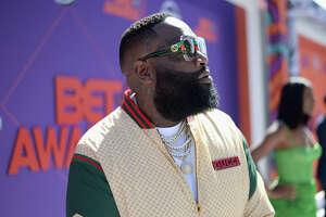 LOS ANGELES, CA - JUNE 24:  Rick Ross attends the 2018 BET Awards at Microsoft Theater on June 24, 2018 in Los Angeles, California.  (Photo by Kevin Mazur/Getty Images for BET)