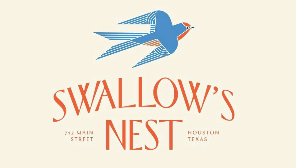 Logo for Swallow's Nest, a craft cocktail bar in Finn Hall, a new food hall set to open in downtown Houston in 2018.