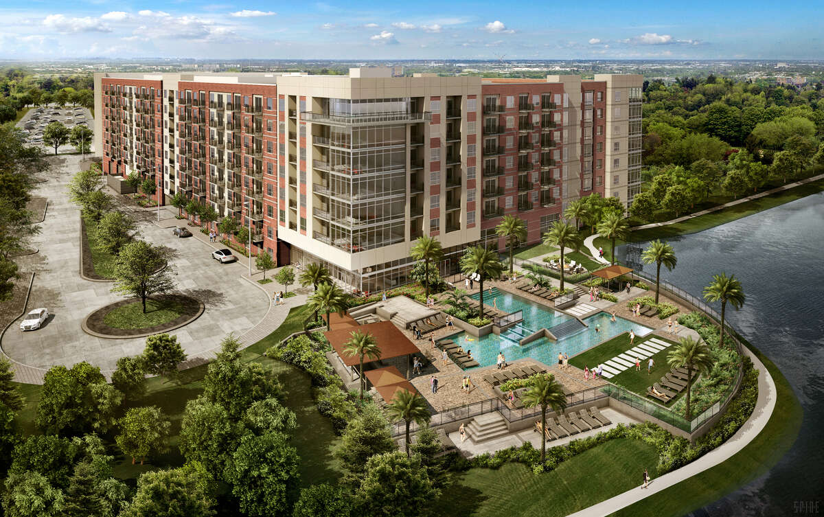 The Howard Hughes Corp. is developing a second apartment community at Hughes Landing along Lake Woodlands. Opening is planned in 2020.Scroll through to see earlier architectural plans