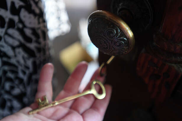 Susan Kilcrease holds a skeleton key for her 1920's Silsbee home.   Photo taken Friday, 6/22/18