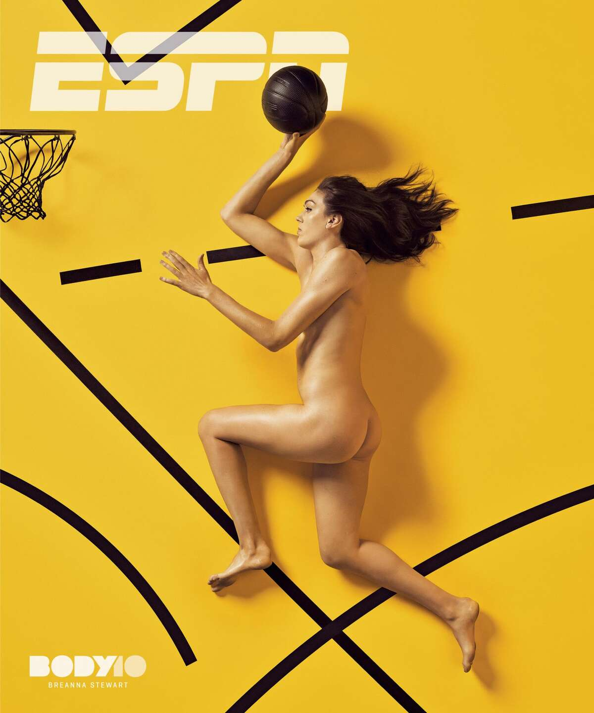 2018 ESPN Body Issue cover of the WNBA's Breanna Stewart. Photo by Marcus Eriksson.
