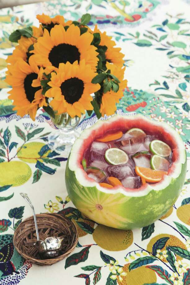 Kicky Watermelon Punch. Photo: JerSean Golatt From Parties Around A Punch Bowl By Kimberly Schlegel Whitman. Reprinted With Permission Of Gibbs Smith /