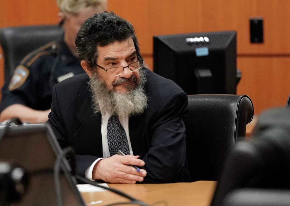 Ali Mahwood-Awad Irsan is shown in court Monday, June 25, 2018. He was charged with capital murder because his alleged crime involved multiple victims - his daughter's best friend, Gelareh Bagherzadeh, an Iranian medical student and activist, and his daughter's husband, Coty Beavers, 28. Both slayings, authorities said, were driven by the anger of Irsan, a conservative Muslim, over his daughter Nesreen's decision to marry Beavers, a Christian from Houston.